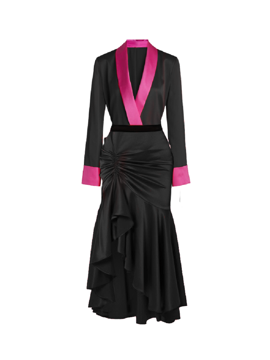 Ini Noir Ruched Dress